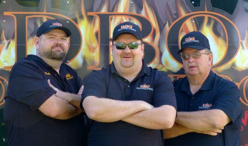 Shane Draper (middle) and the Draper's BBQ Crew.