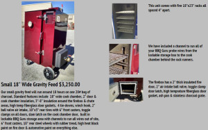 "Rockin W Smokers 18"" Wide Gravity Feed Model"