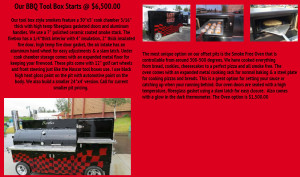 Rockin W Smokers BBQ Tool Box Offset Pro Model