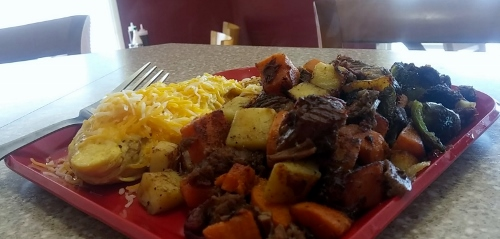 Bigmista's Barbecue - Sweet Potato Brisket Hash