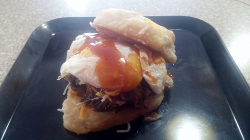 Bigmista's Barbecue - Morning Wood Brisket Breakfast Sammich