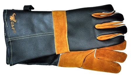 BBQ Buying Guide G&F Leather BBQ Gloves